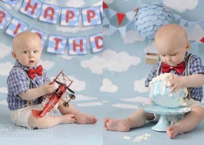 Cake Smash Session Cheshire, A&T Gancarz Photography