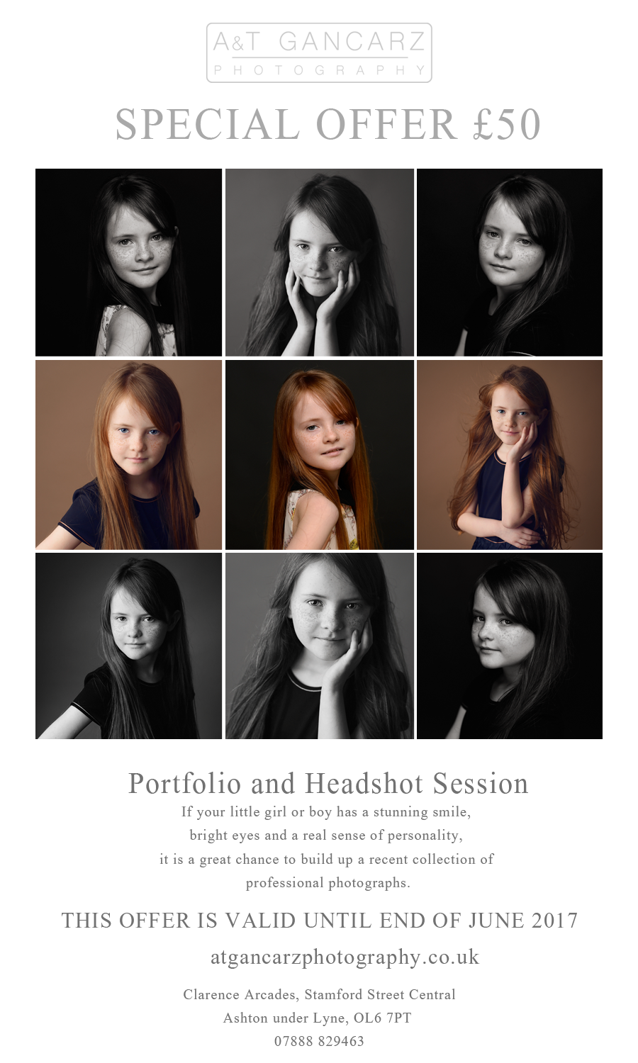 children's modelling, child portraits, modelling portfolios, studio portrait session